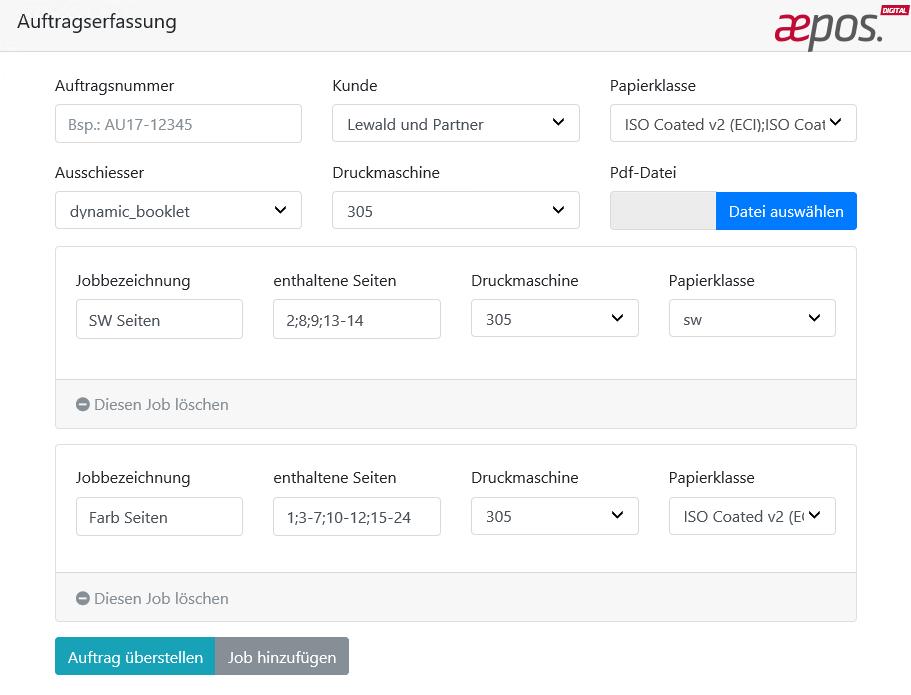 aepos. Job Ticket Editor jetzt einfacher & schneller bedienbar und ...